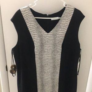 Calvin Klein size 16w, black-snake print sheath